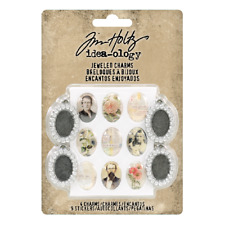 Tim Holtz Idea-ology Collection Metal Jeweled Charms th93697 Advantus 2018