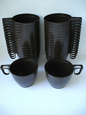30 Plastic Disposable Brown Coffee / Tea Mugs for Party Supplies 170ml (6 oz)
