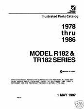 1978 -1986 Cessna R182 & TR182 Series Illustrated Parts Catalog Rev.1997 Manual