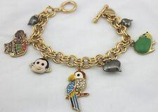 B6 Betsey Johnson Parrot Parakeet Rosella Monkey Chain Chain Bracelet US