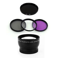 52mm Telephoto Lens + IR950 Filter Set for Nikon D50 D60 D70 D100 18-55mm camera