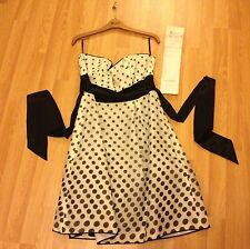 Ladies Monsoon - Size 14 Suki White & Black Dress- RRP £107 + Receipt (Good)