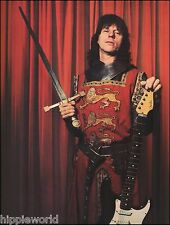 Jeff Beck as knight with Fender Stratocaster guitar & sword 8 x 11 pinup photo