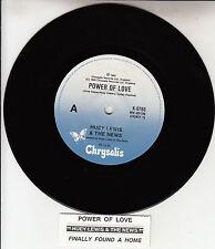 "HUEY LEWIS & THE NEWS  Power Of Love 7"" 45 rpm record + juke box title strip"