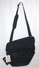 """13"""" Black Messenger Bag, Travel Shoulder Carry-On Crossbody Man Bag Everyday Bag"""