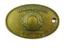 #e8316 Kripomarke / Dienstmarke der Kriminalpolizei DDR Brandenburg Cottbus