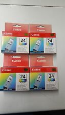 Genuine Original Canon BCI-24 Color Inks Cartridges x 4 *** Cool Offer ***