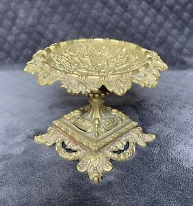 19th Century Antique French Gilt Bronze Repousse Neoclassical Tazza Compote Bowl