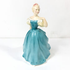 1958 ENCHANTMENT H.N 2178 Doulton & Co England Bone China Teal Dress Female 8""