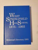 West Springfield High School MA 1875-1993 Alumnae Alumni Directory HC Yearbook