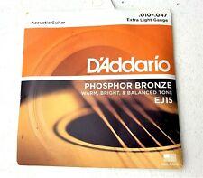 D'Addario EJ15 Phosphor Bronze, Extra Light Gauge, 10-47 - New