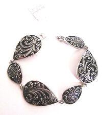 Lia Sophia Jewelry Teardrop Design Bracelet in Antiqued Silver