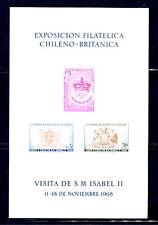 Chile  1968   #C287A footnote  QEII visit  sheet  MNH   F266