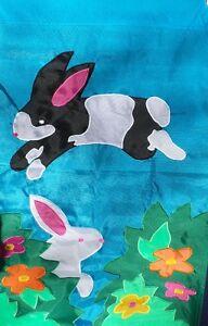 Garden Bunnies Easter Standard Flag by NCE  60304