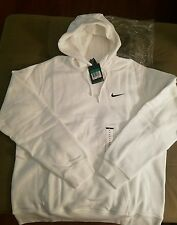NIKE MENS CLUB SWOOSH WHITE PULLOVER HOODIE (611457 100) SIZE XL NEW