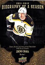 2011-12 Upper Deck Biography of a Season #18 Zdeno Chara