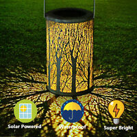 LED Solar Lantern Outdoor Waterproof Retro Hanging Solar Lamp Decor Patio Garden