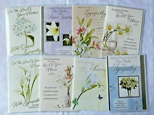 Deepest Sympathy At The Loss of your Mum / Mother Cards In 12 Designs