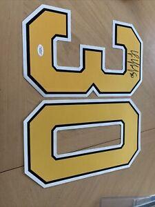 Tim Thomas Boston Bruins Signed Yellow #30Jersey Number JSA#