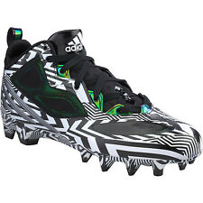Men's Adidas RGIII Football Cleats D74341 MENS Size 8 Black  White RG3 NEW