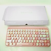 UBOTIE Portable Bluetooth Colorful Keyboard Pink 84 Key SK-621BT OB Free Ship