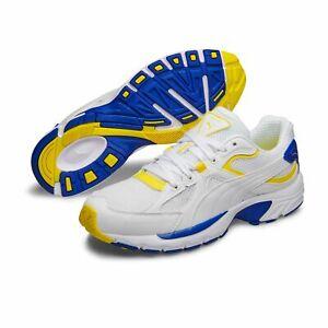 Puma AXIS Plus 90s Unisex Fitnessschuhe Sneaker Turnschuhe 370287 White Yellow