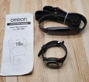 Omron HR-100C Heart Rate Monitor Chest Strap Watch T2