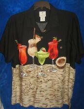 Luau SandBar SS Camp Shirt Rayon Aloha Tropical Beach Pool Tiki sz XL