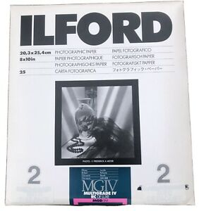 Ilford MGIV Multigrade RC Deluxe Glossy 8x10 Photographic Paper MGD.1M