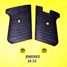 JIMENEZ JA 22 GRIP SET WITH CHROME SCREWS NEW OLD STOCK OEM GUN PARTS