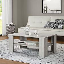[en.casa] Tavolino da Salotto Rovere Bianco 100x60cm del Soggiorno Legno