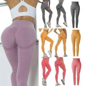 Women Anti-Cellulite Yoga Pants High Waist Sport Gym Leggings Scrunch Trousers