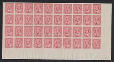 CANADA 1903 MINT NH SC #90A 2c KEVII IMPERFORATE PANE OF 40 CAT $1,900