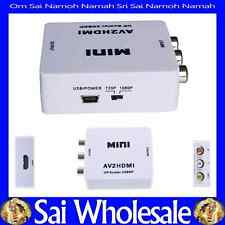 AV to HDMI Converter for VCR DVD PS3 720P 1080P UP SCALLER 1080P