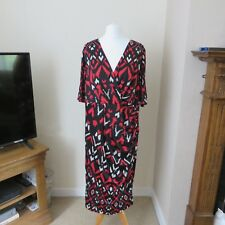 Shelby & Palmer Black/Red Mix Dress size 1X Immaculate