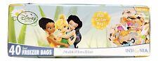 1X Disney Fairies Themed Quart Freezer Bags 40 Total Party Treat Bags Iridessa
