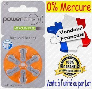 Piles/Battery VARTA A13 P13 pour Appareil Auditif : code ORANGE ( 0% Mercure )