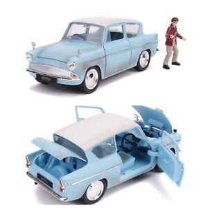 1/24 Jada Ford Anglia + Figurine Harry Potter 1959 Neuf Boite Livraison Domicile