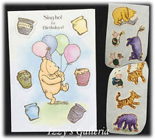 Classic Pooh Sing Ho For Birthday Very Happy Sort Of Day Pop Up Card Stickers