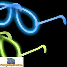 Snap Glow Glasses Assorted 80s Neon Novelty Jewellery Fancy Dress Accessory