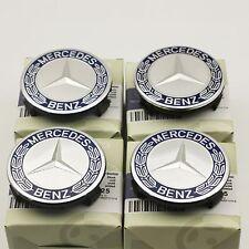 4 x Mercedes Benz WHEEL CENTRE HUB CAPS 75mm Cover Badge Emblem Black AU