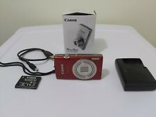 Canon PowerShot ELPH 180 20.0 MP Digital Camera RED (Charger + Battery) (R2800)