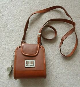 Vintage Fiorelli Bag Brown with Accessory Whistle - approx size 12.5 x 14 cm