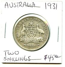 1931 - Australia - Two Shillings - Very Nice Coins !