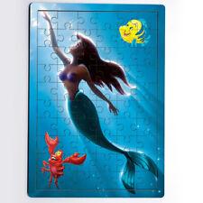 Disney Princess Ariel Little Mermaid Swimming Sun MDF Jigsaw Puzzle 60 Pieces