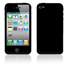 NEW PLAIN BLACK SOFT SILICONE GEL RUBBER CASE COVER SKIN FOR IPHONE 4 4S