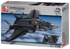 Sluban Stealth Mulitrole Fighter Jet Attack Helicopter Stealth Bomber Bricks New