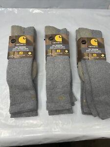 Carhartt Irregular Men's 6 Pack Full Cushion Steel-Toe Work Boot Socks xl 11-15