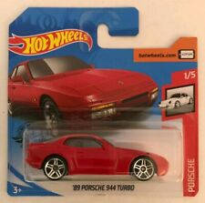'89 Porsche 944 Turbo Hotwheels 1/5 Red Scale 1:64 Collectors Toy Car In Box NEW