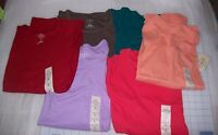 WOMENS ST.JOHNS BAY LONG SLEEVE CREW SHIRTS.MULTIPLE COLORS/SIZES NEW WITH TAGS